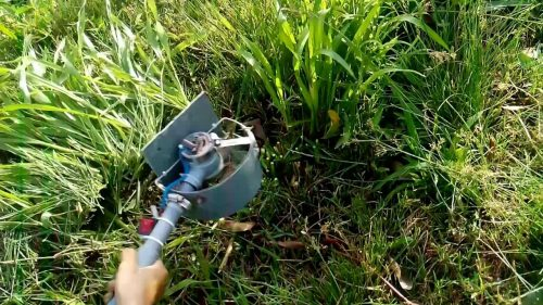 máy cắt cỏ tự chế